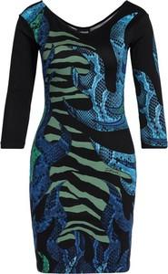 Sukienka Just Cavalli z długim rękawem mini w stylu casual