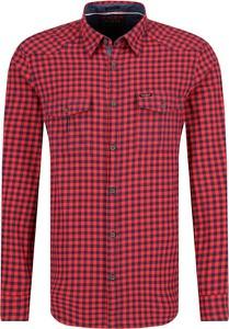 Czerwona koszula Guess Jeans z długim rękawem
