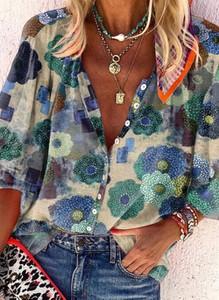 Koszula Cikelly z długim rękawem z okrągłym dekoltem