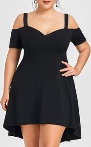 Czarna sukienka Sandbella mini z krótkim rękawem