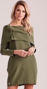 Zielona sukienka Sheandher.pl hiszpanka w stylu casual z bawełny
