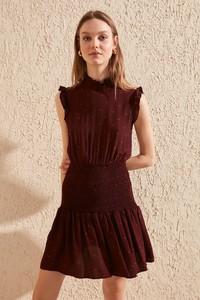 Czerwona sukienka Trendyol rozkloszowana mini