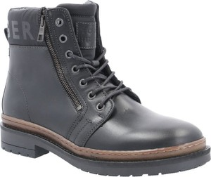 Buty zimowe Tommy Hilfiger sznurowane ze skóry