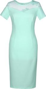 Sukienka Fokus dopasowana mini w stylu klasycznym