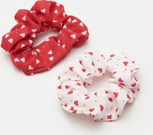 Sinsay - Gumki do włosów 2 pack - Czerwony