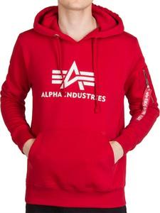 Czerwona bluza Alpha Industries z bawełny