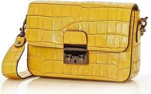 Żółta torebka Merg ze skóry na ramię