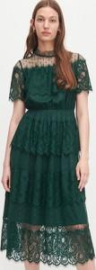 Sukienka Reserved z okrągłym dekoltem midi