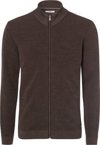Brązowy sweter Brax z wełny w stylu casual