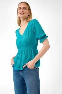 Bluzka ORSAY z tkaniny w stylu casual z dekoltem w kształcie litery v