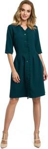 Sukienka Made Of Emotion z długim rękawem z dekoltem w kształcie litery v