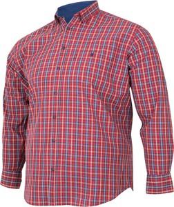 Koszula Bigsize z długim rękawem w stylu casual z bawełny