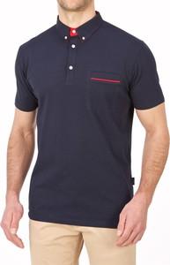 Granatowa koszulka polo Lanieri