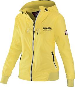 Żółta kurtka Pit Bull krótka w sportowym stylu