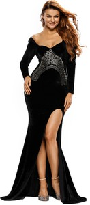 Elegrina długa sukienka jeannissa czarna