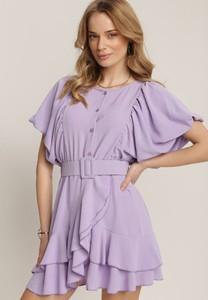 Sukienka Renee z okrągłym dekoltem z krótkim rękawem mini