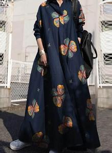 Sukienka Arilook z długim rękawem z bawełny