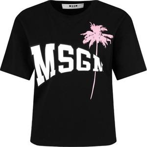 T-shirt MSGM z okrągłym dekoltem w młodzieżowym stylu
