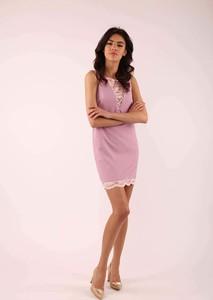 Różowa sukienka Nommo bez rękawów