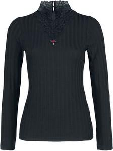 Czarna bluzka Vive Maria z długim rękawem z golfem
