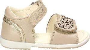 Żółte buty dziecięce letnie Geox ze skóry na rzepy