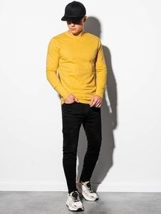 Żółta koszulka z długim rękawem Ombre