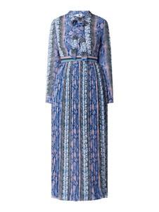 Sukienka Forever Unique z kołnierzykiem z szyfonu midi