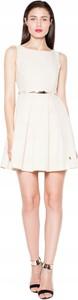Sukienka Inna mini bez rękawów rozkloszowana