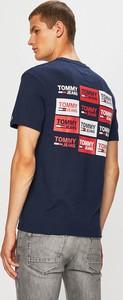 Niebieski t-shirt Tommy Jeans z bawełny