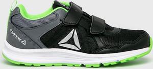 Czarne buty sportowe dziecięce Reebok na rzepy ze skóry