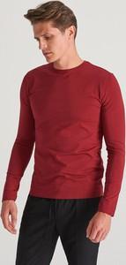 Czerwona koszulka z długim rękawem Reserved