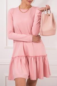 Sukienka JOMU mini z bawełny z długim rękawem