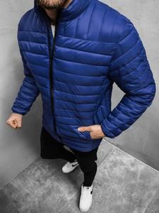 Niebieska kurtka ozonee.pl w stylu casual krótka