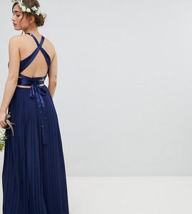 Granatowa sukienka Tfnc Petite na ramiączkach