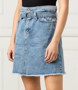 Niebieska spódnica Guess z jeansu w stylu casual