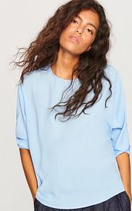 Niebieska bluzka Reserved w stylu casual