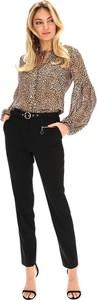 Czarne spodnie Lavard z tkaniny
