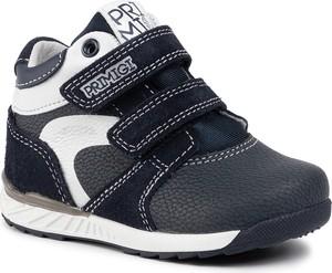 Granatowe buty dziecięce zimowe Primigi na rzepy