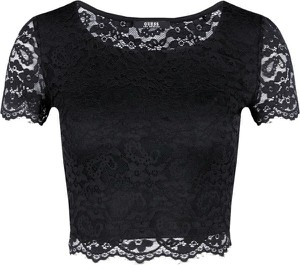 Czarna bluzka Guess Jeans z okrągłym dekoltem