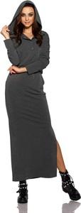Czarna sukienka Lemoniade z dekoltem w kształcie litery v maxi z dresówki
