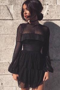Sukienka Ivet.pl z długim rękawem mini koszulowa