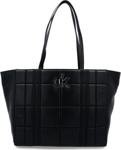 Czarna torebka Calvin Klein pikowana duża
