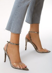 Brązowe sandały born2be ze skóry ekologicznej