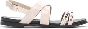 Sandały born2be z płaską podeszwą ze skóry ekologicznej w stylu casual