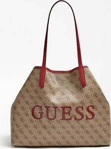 Brązowa torebka Guess średnia