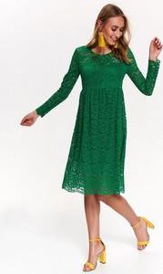 Sukienka Top Secret rozkloszowana z długim rękawem