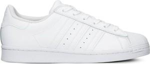 Buty sportowe Adidas w sportowym stylu ze skóry sznurowane