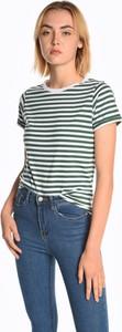 T-shirt Gate z bawełny z okrągłym dekoltem w stylu casual