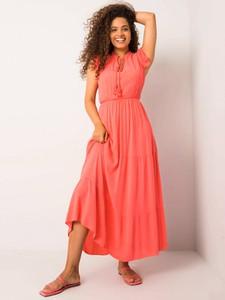Różowa sukienka Promese maxi