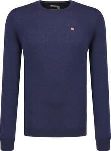 Niebieski sweter Napapijri z wełny